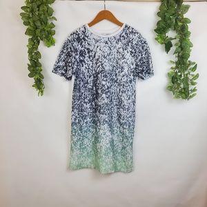 Zara Trafaluc ombre sequins t-shirt dress